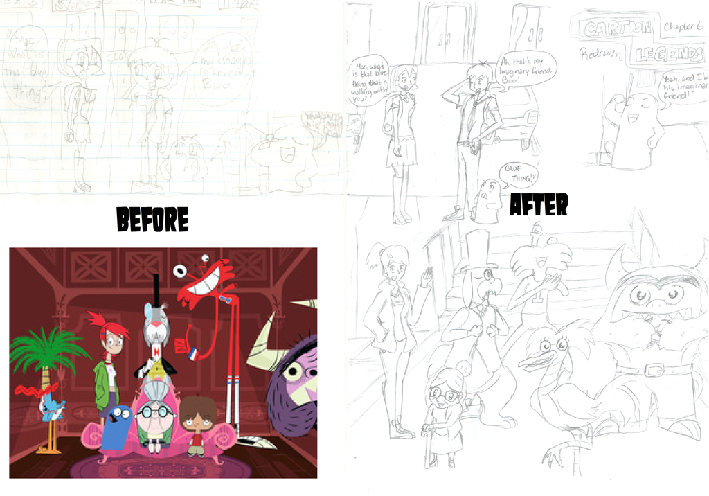 Cartoon Legends Redrawn (Before-After) Chapter 6 by Jiolyemaster