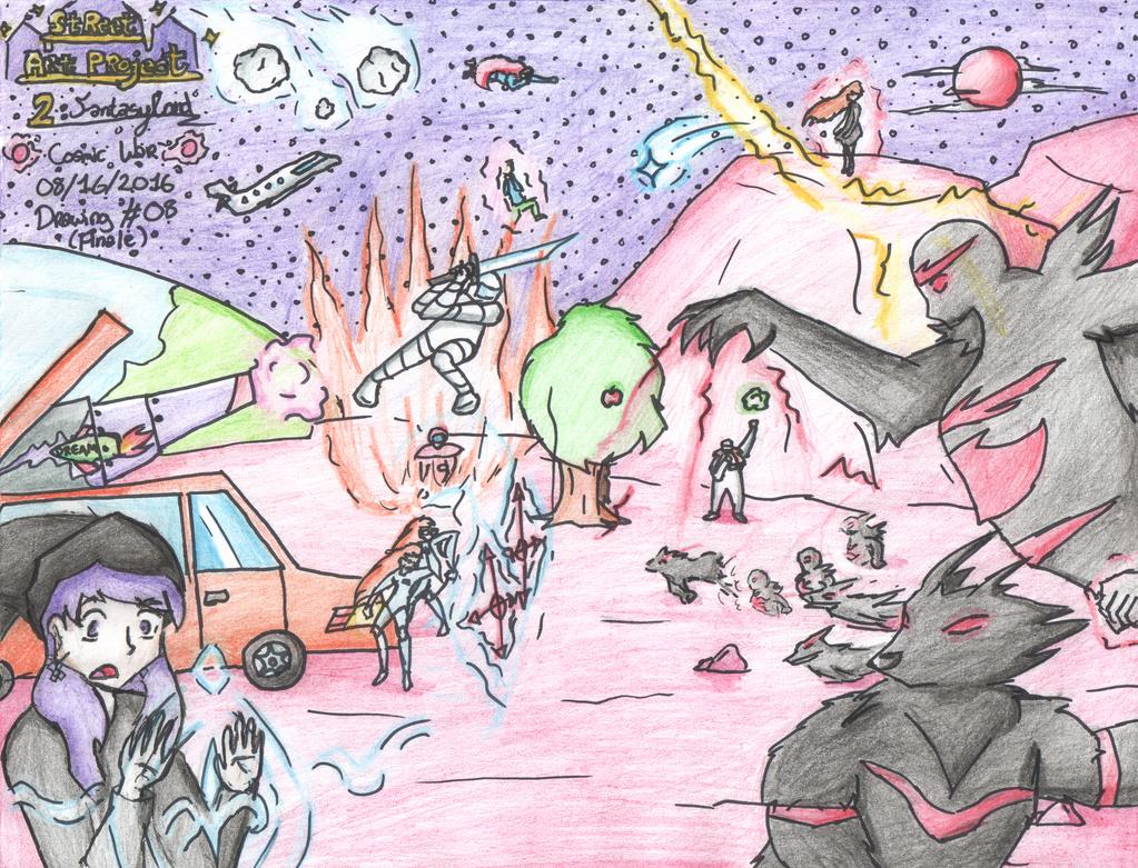 Street Art Project 2 FantasyLand - Final Drawing by Jiolyemaster