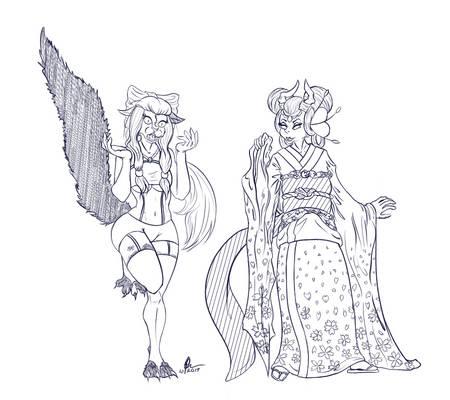 .:Outfit swap:.  Mikumi x Kotorin