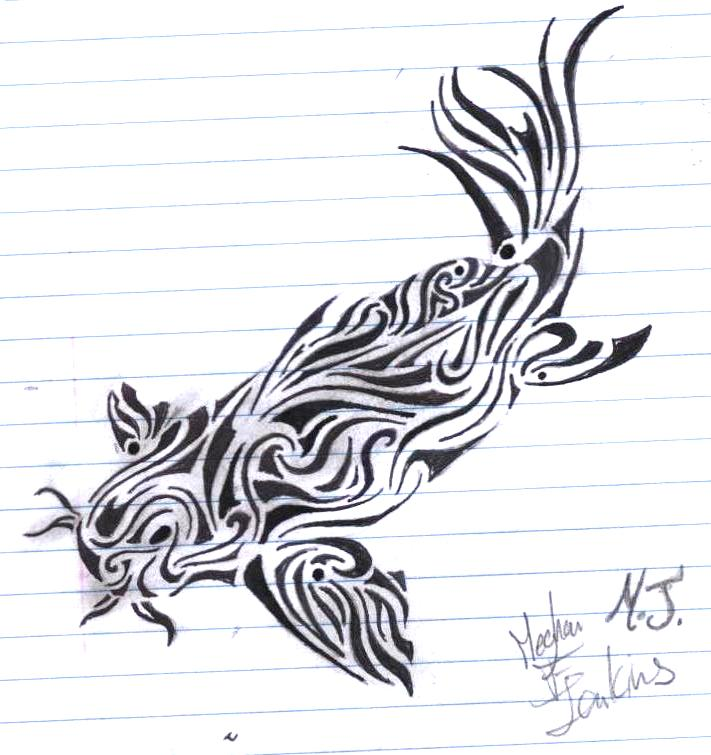 Koi Fish Tattoo Design by Griffon2745 on DeviantArt