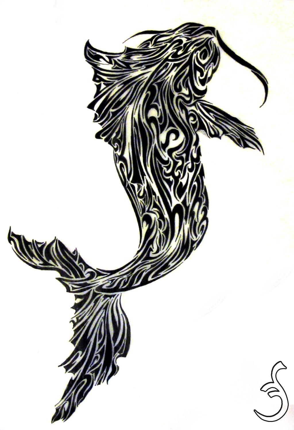 Koi fish tattoo design 2 by griffon2745 on deviantart for Koi fish tattoo designs