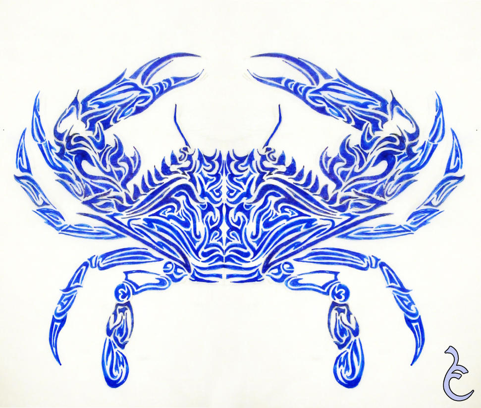 Blue crab tattoo design by griffon2745 on deviantart for Blue crab tattoo