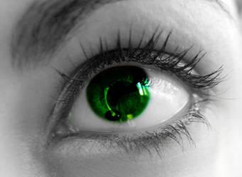 Riddler eye by kings-jester-of-time