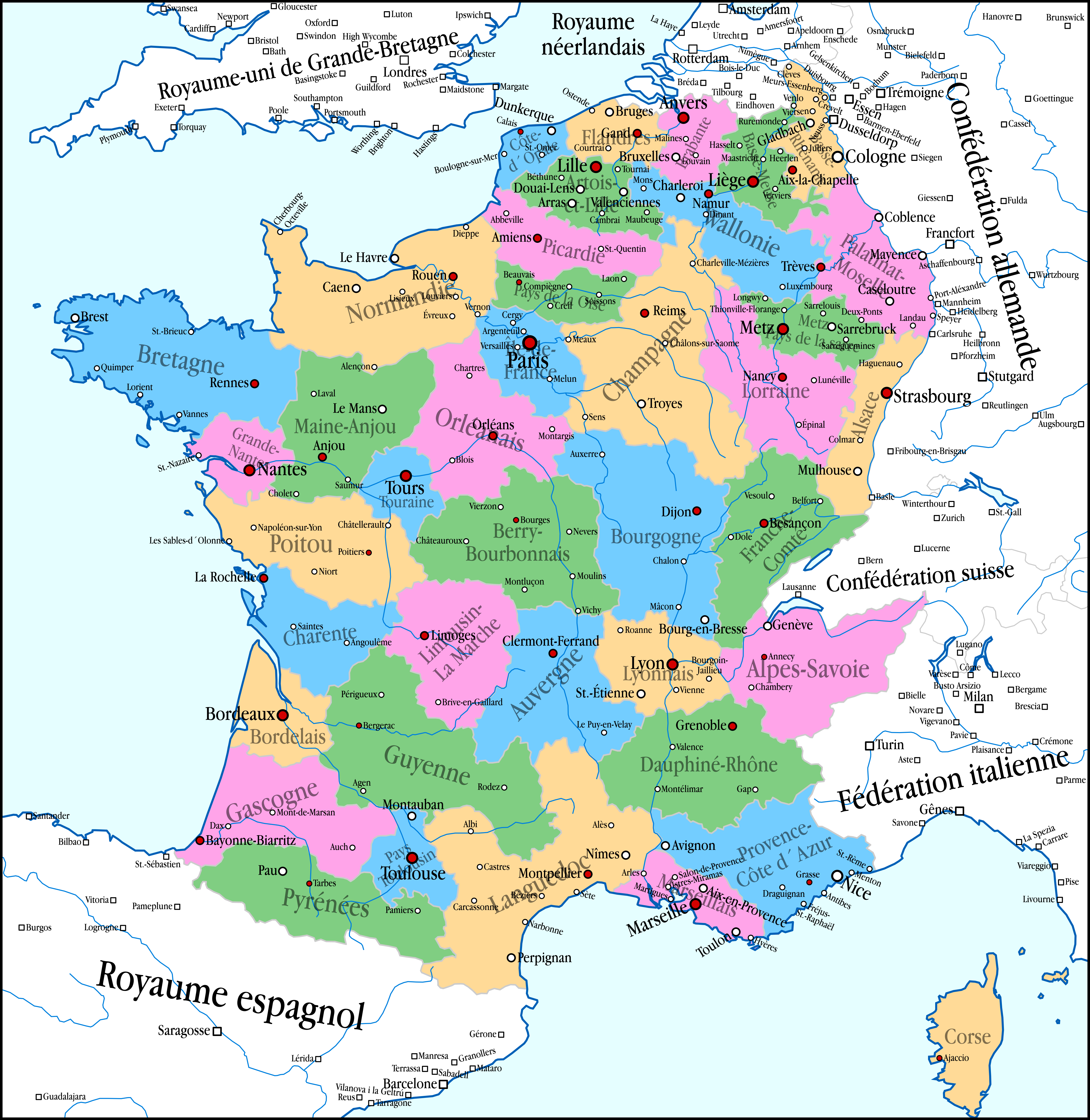 Alternate History Map France by banananaise on DeviantArt