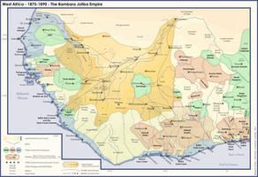 AH Map - West Africa - Joliba Empire by banananaise