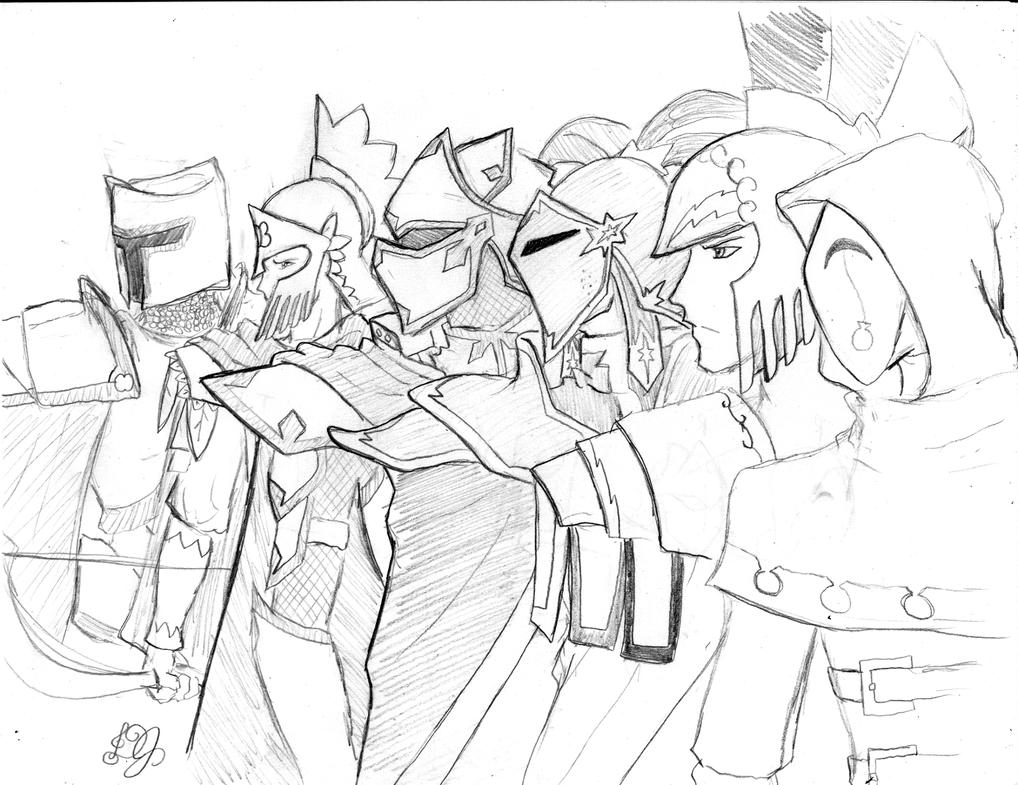 Knights Of Harmony Rough Sketch By DJ-black-n-white On