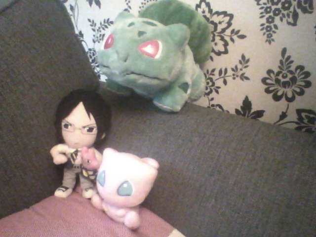 Bulbasaur, Uryu Ishida and Mew by Belarus-Hetalia