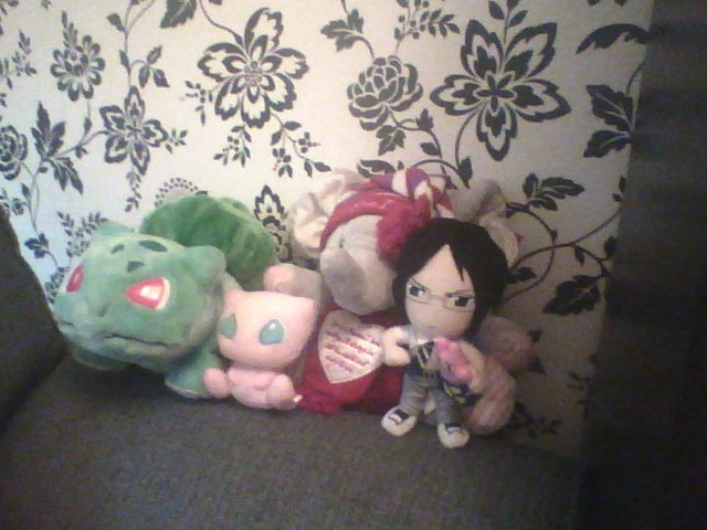 Bulbasaur, Uryu Ishida and Mew and Eliot 2 by Belarus-Hetalia