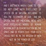 Human Wisdom and God's Power - FREE