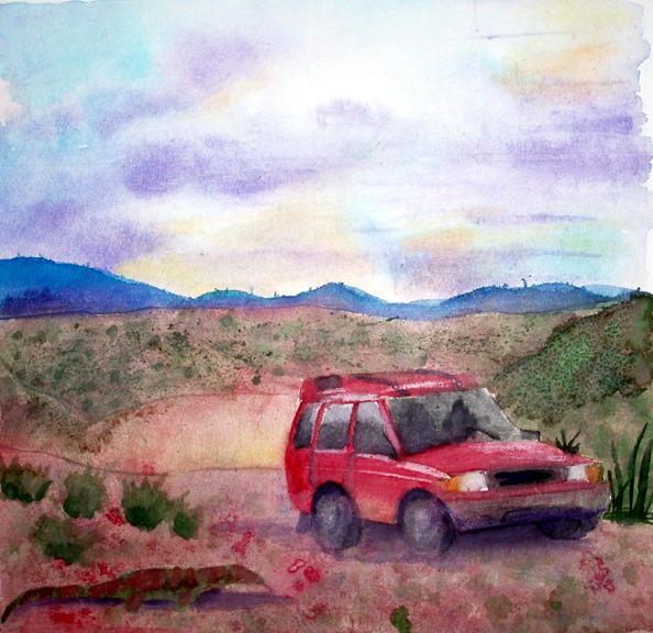 Watercolor in the desert by Emberblue