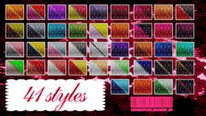 41 styles - Glitter