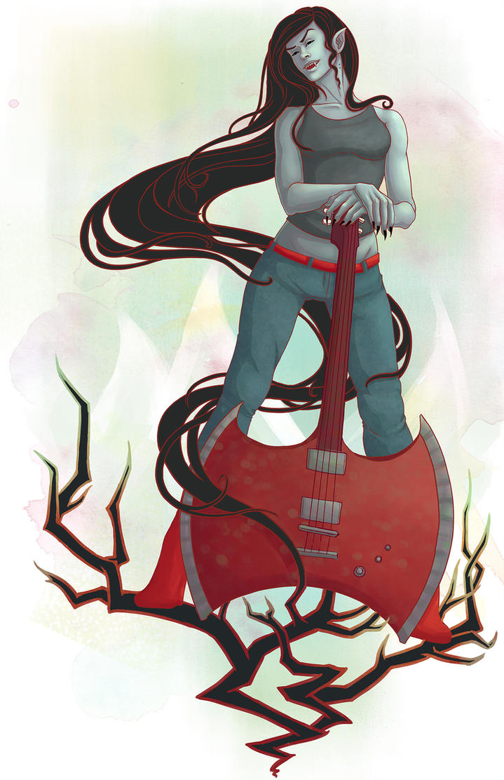 Yo Marceline You're the Vampire Queen by clarkegilmore