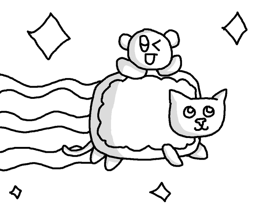 Nyan Cat Free Colouring Pages