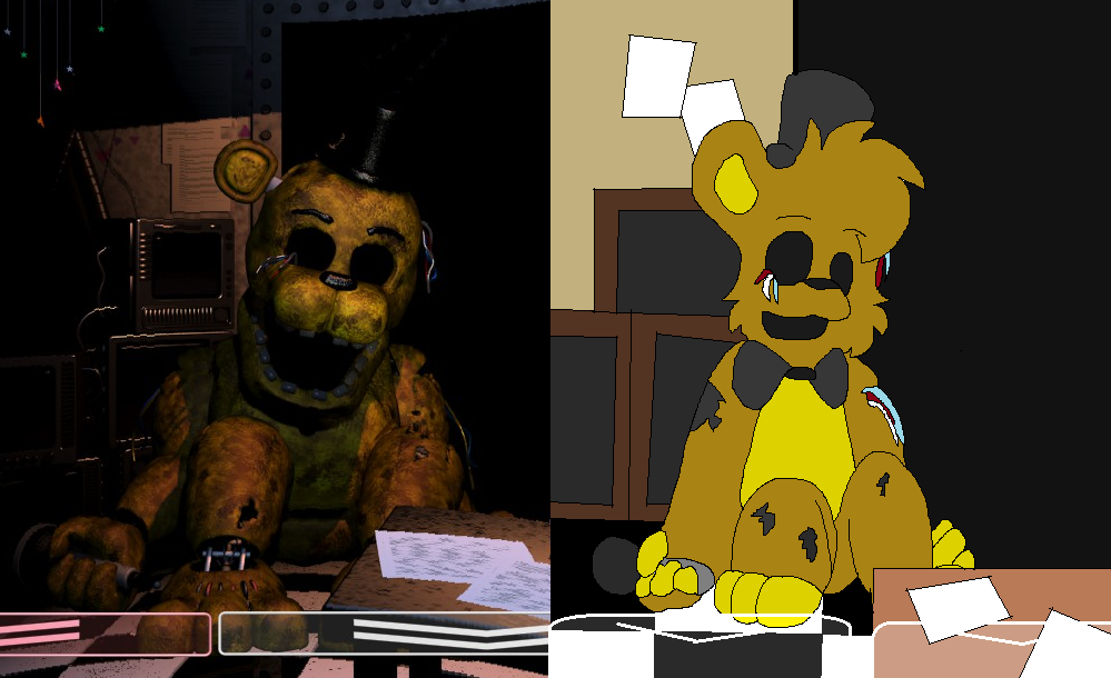 How I draw..- Golden Freddy (fnaf 2) by Dark-Star-The-Cat ...