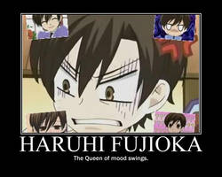Haruhi's mood swings by TheWorldIsAVampire8