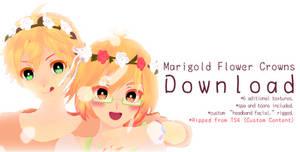 .: Marigold Flower Crowns +DL :. by aHaru