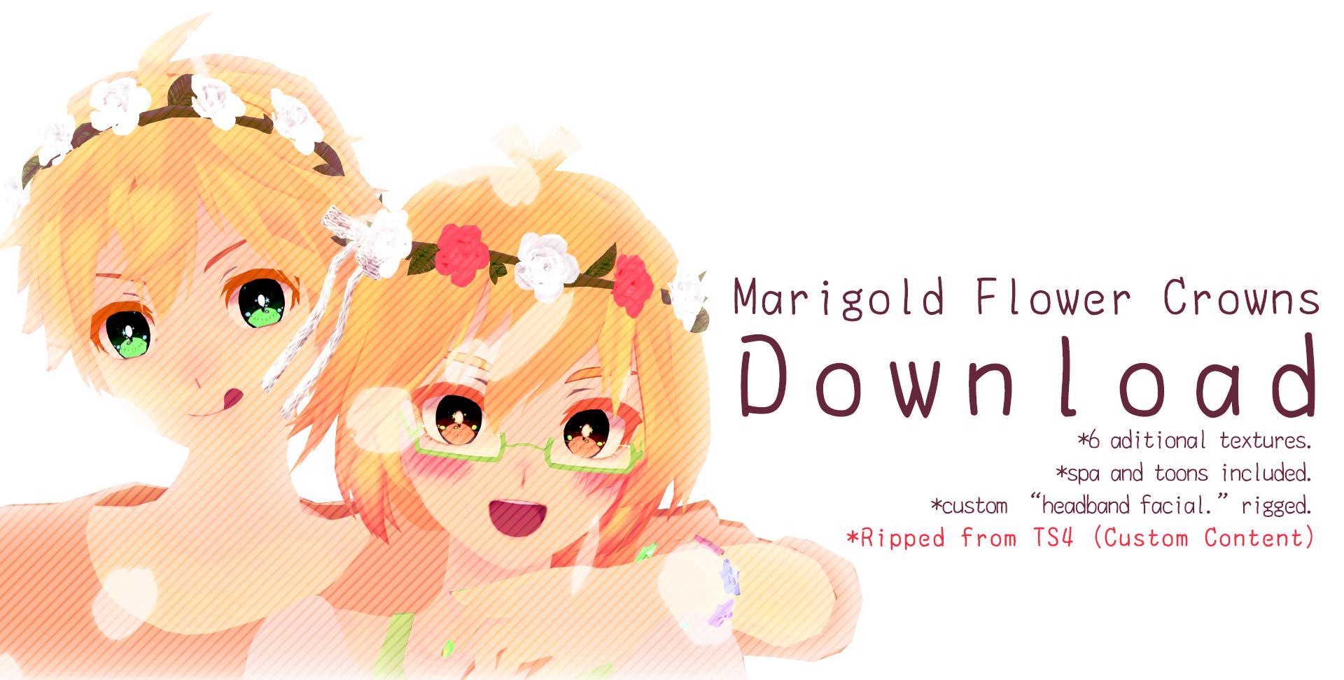 .: Marigold Flower Crowns +DL :.