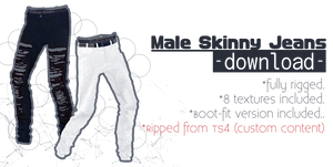 .: Marigold Male Skinny Jeans +DL :.