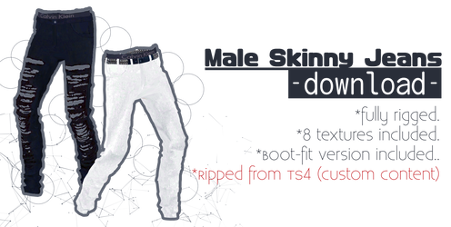 .: Marigold Male Skinny Jeans +DL :. by aHaru