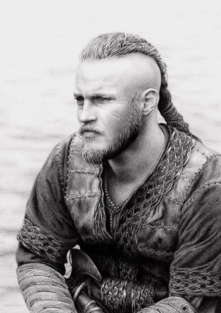 realistas - DIBUJOS REALISTAS Ragnar_by_sigarth-d74rry7