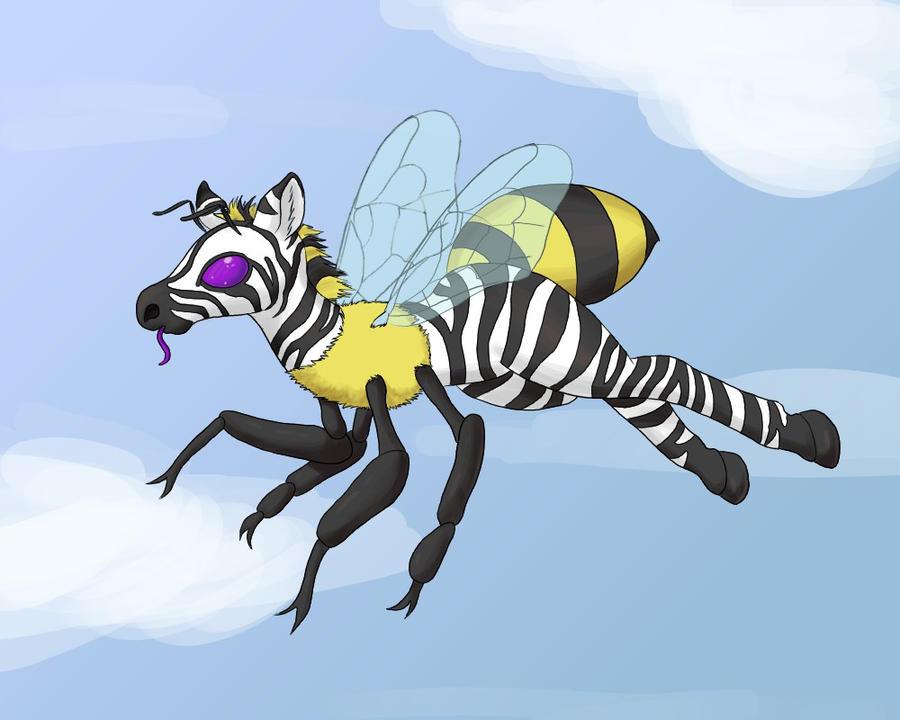 Zebra Bee by goomzz