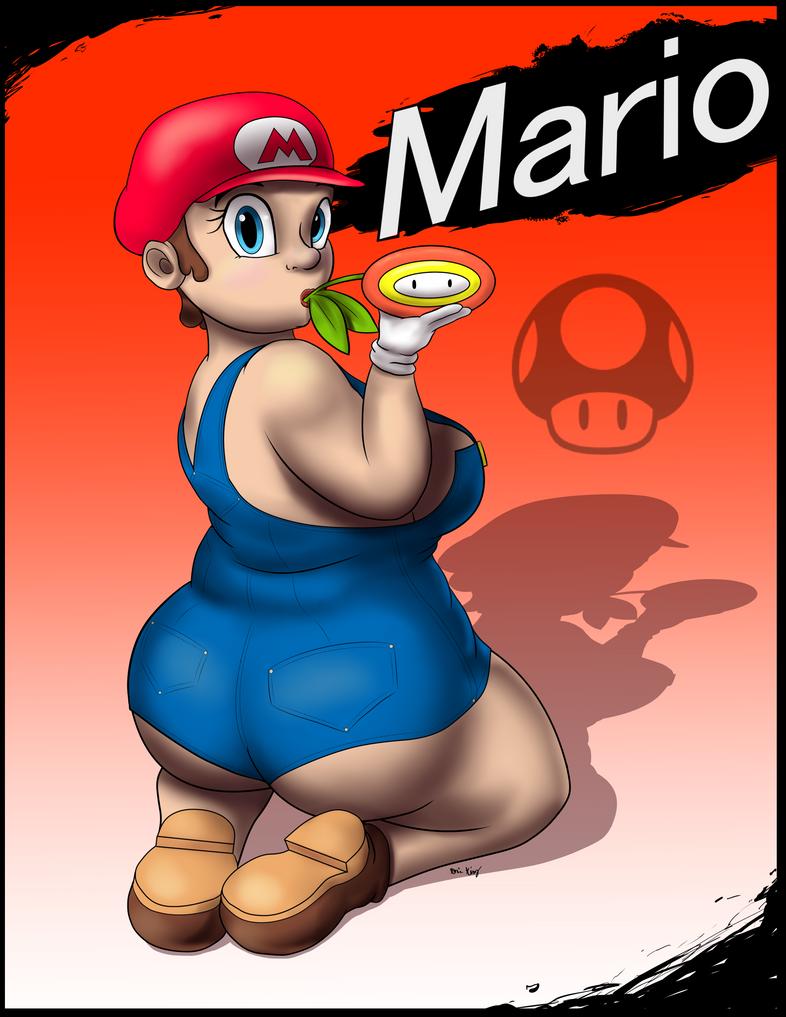 Smash Pin Ups 'Mario' by goomzz