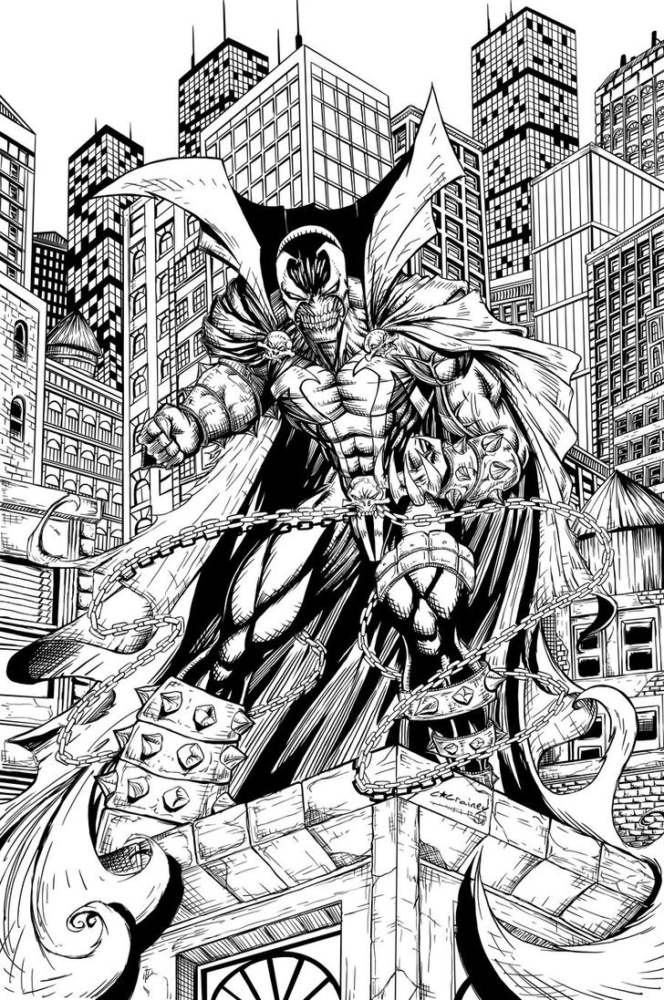 Spawn inks by c crain on deviantart for Spawn coloring pages