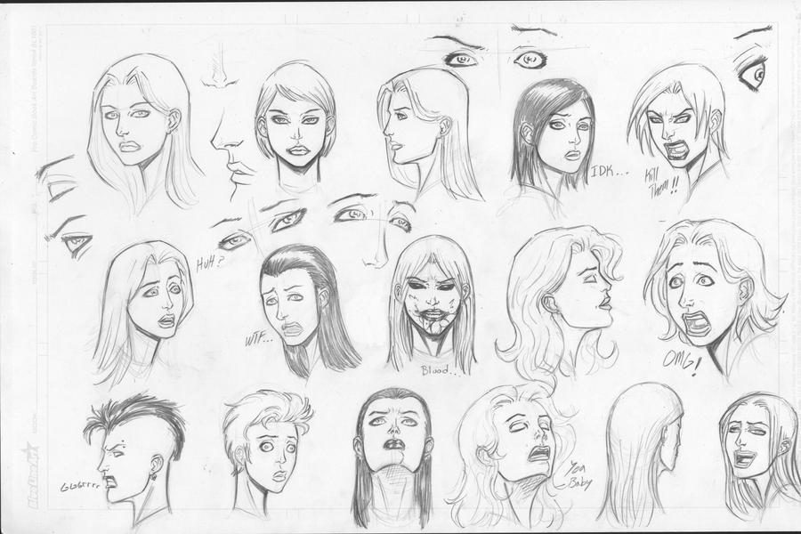 women head sketches by c crain on deviantart