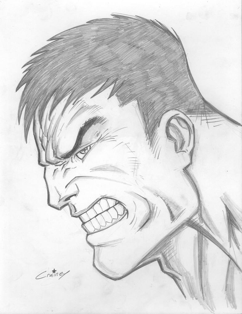 Hulk Face Line Drawing : Hulk sketch by c crain on deviantart