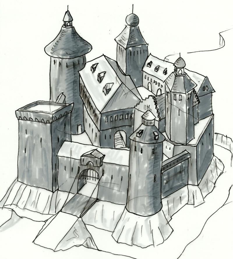 Castle Sketch By Kluwe On DeviantArt