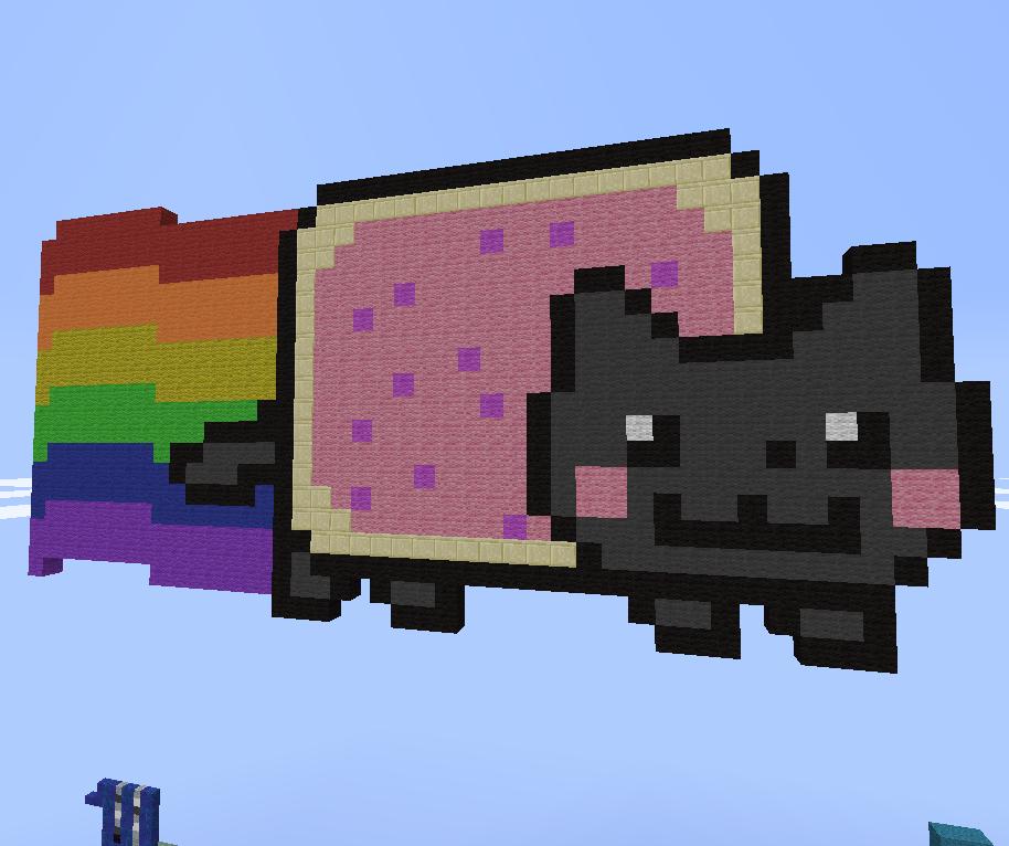 Nyan Cat in Minecraft by YanderePrime on DeviantArt