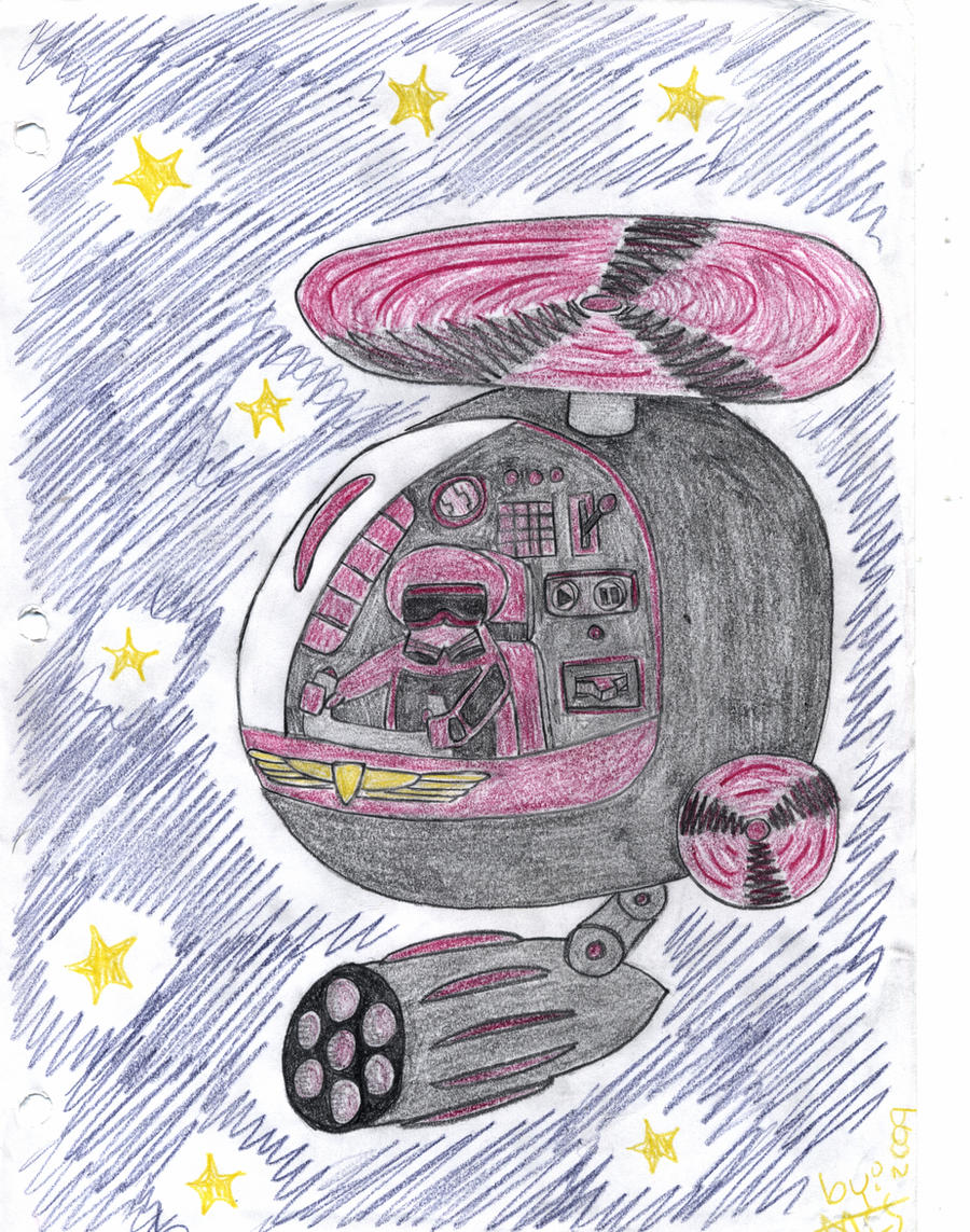 Nave y guerrero espacial by MCS1992