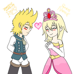 Miitopia X Kingdom Hearts Roxas And Namine by TheNerdyKairi