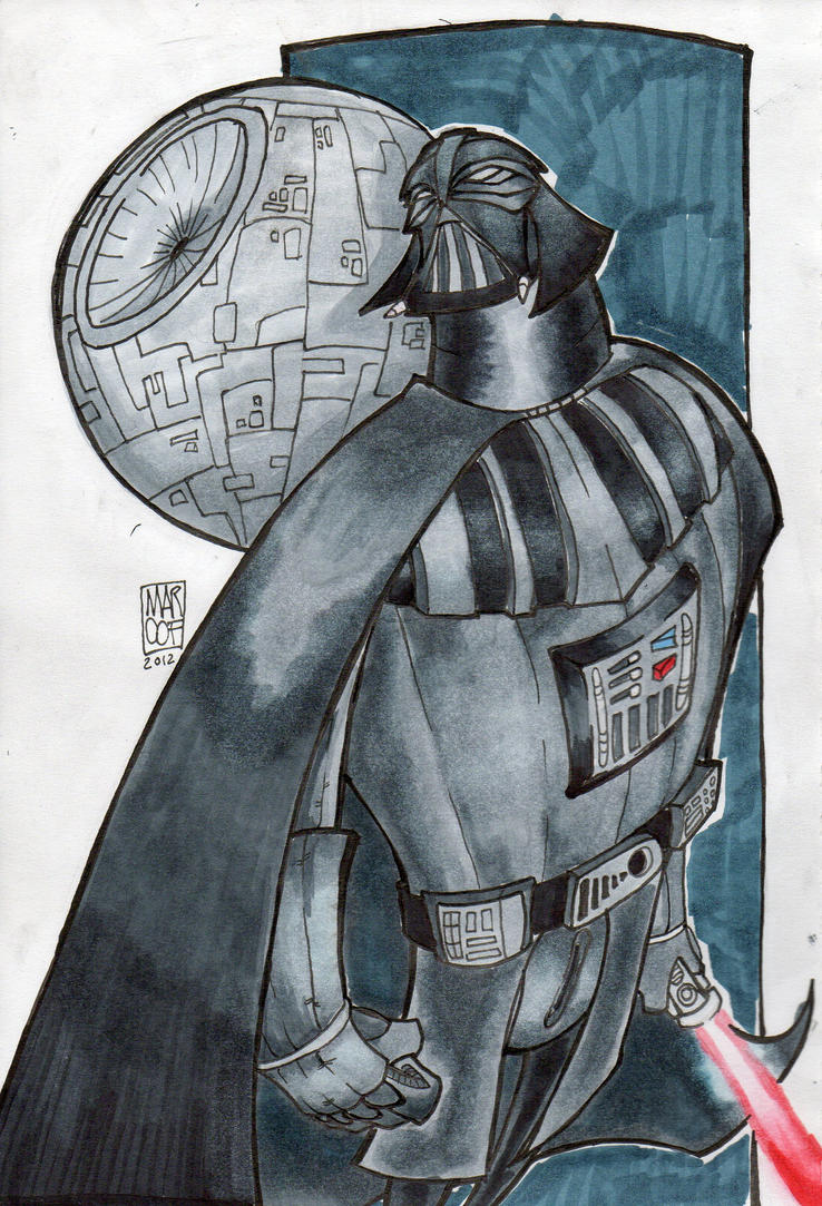 DARTH VADER and the BLACK STAR by MARC0F