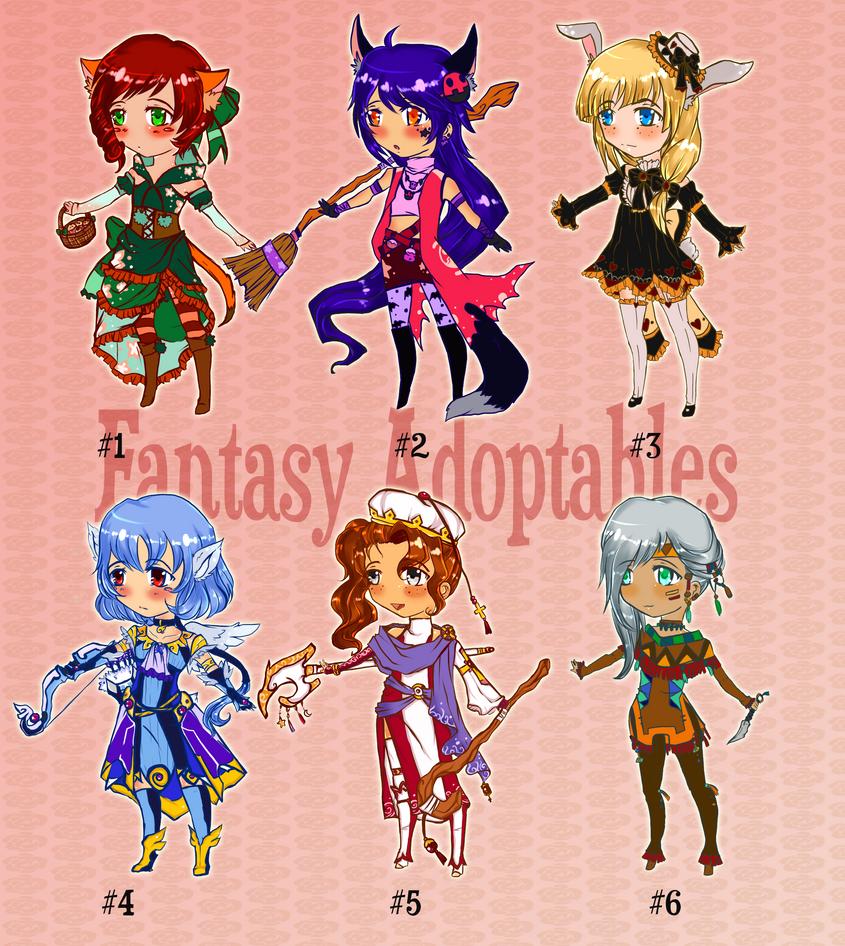 Adoptables:Fantasy Set[CLOSED] by SeraphEnigma23