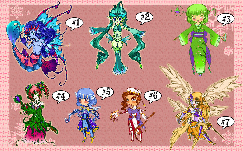 Unsold Adoptables Sale [Price reduction!][CLOSED] by SeraphEnigma23