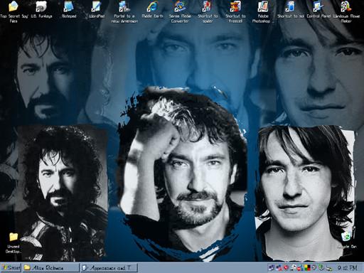 Alan Rickman Desktop Scrnshot by elventreedweller1989