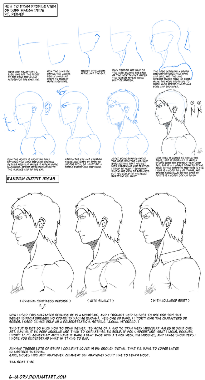 Manga Male Head Side View Tut Ft Reiner By Gglory How To Draw