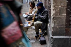 Barcelona musicians by Maga-y-bailar