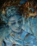 Wencka,  oil on canvas, 100 x 80