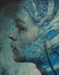 AgnieszkaWencka , oil on canvas, 100 x 80 cm by Wencka