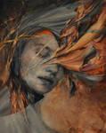 Silence - Agnieszka Wencka, oil on canvas
