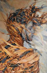 Desert, Agnieszka Wencka, oil on canvas, 120 x 80