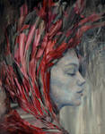 onyx, Agnieszka Wencka, oil on canvas, 100 x 80