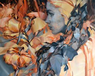 cinnamon,  Agnieszka Wencka, 100 x 80 oil by Wencka