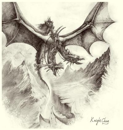 Evil dragon by KnightC...