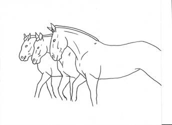 3 Horses by Allicorn