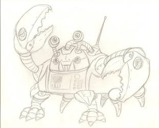 robot crab by ArsenicForBreakfast