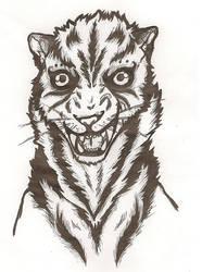 Tiger lineart by ArsenicForBreakfast