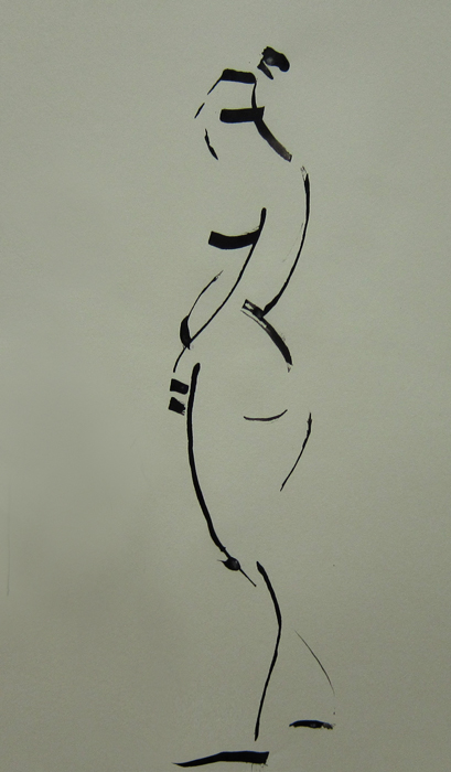 Calligraphic model drawing 01 by Slight-Shift